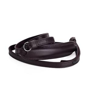 LEICA CARRYING STRAP FOR M, Q & X SYSTEM, LEATHER, DARK BROWN